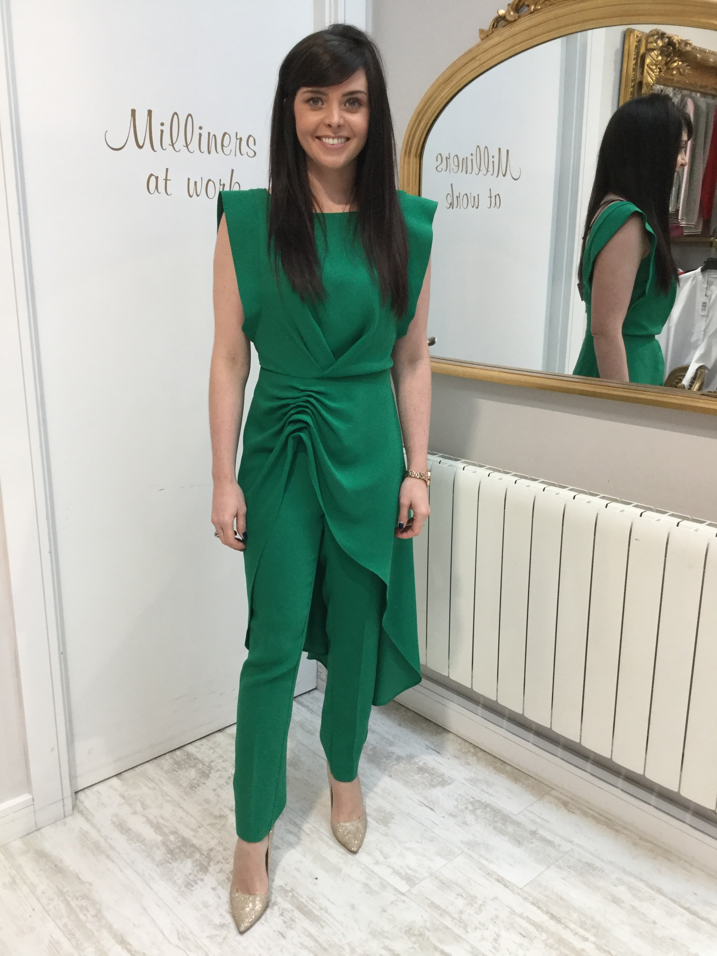 Green Crepe Trousers ACTROU3501