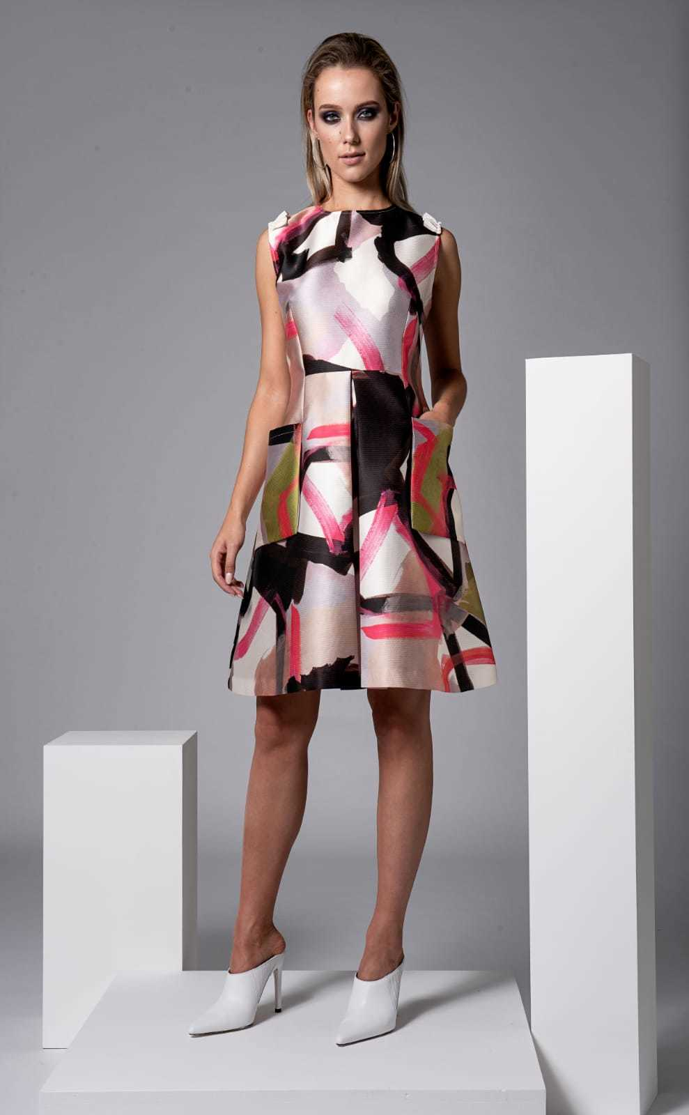 Foster Dress in Abstract Print CARKKSISDRFOSTER
