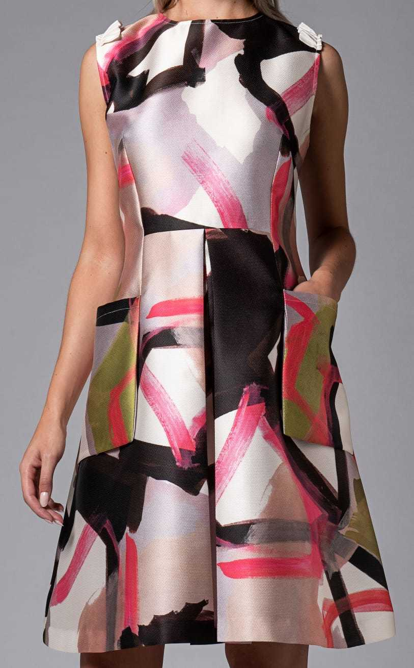 Foster Dress in Abstract Print