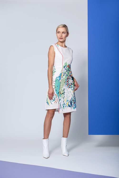 Taylor Dress in Multi Coloured Printed Linen CARKKTAYLOR