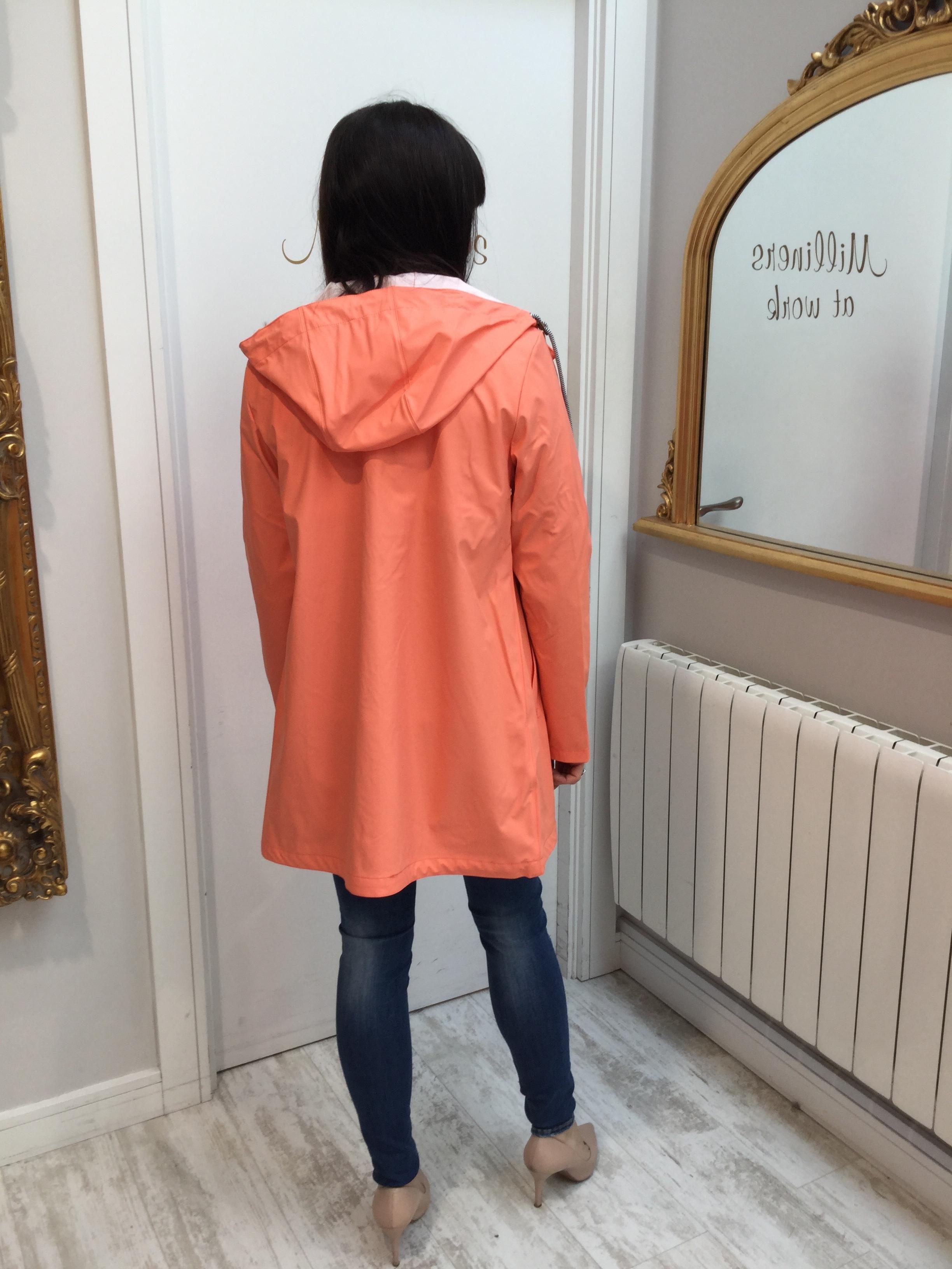 Coral Rain Jacket with Hood
