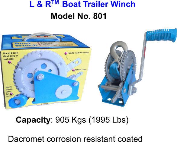 L & R  Boat Trailer Winch