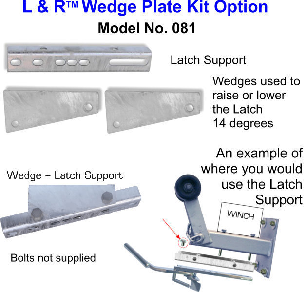 Free Freight-ONLY if bought with product - L & R Wedge Plate Kit