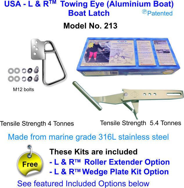 USA - L & R  Towing Eye (Aluminium Boat) Boat Latch