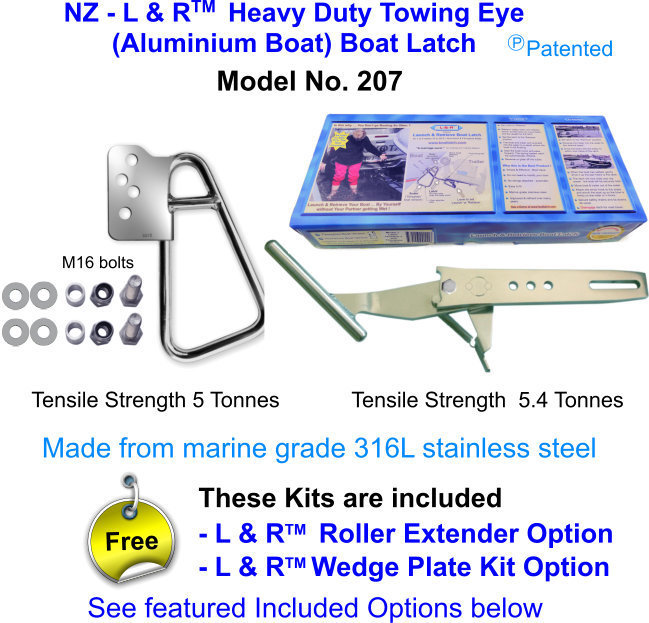 New Zealand - L & R  Heavy Duty Towing Eye (Aluminium Boat) Boat Latch FOR boats over 21 ft (6.5M)