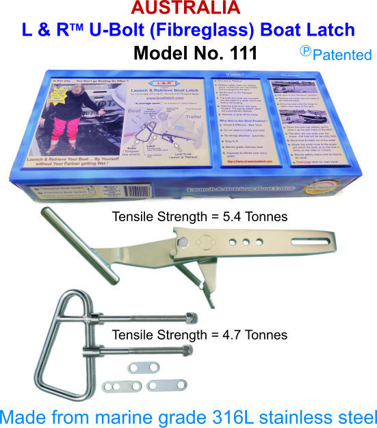 L & R U-Bolt (Fibreglass) Boat Latch