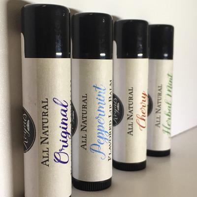 All Natural Flavored Lip Balm
