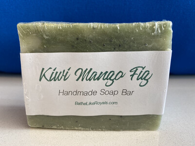 Kiwi Mango Fig Handmade Soap Bar - 5oz - VEGAN