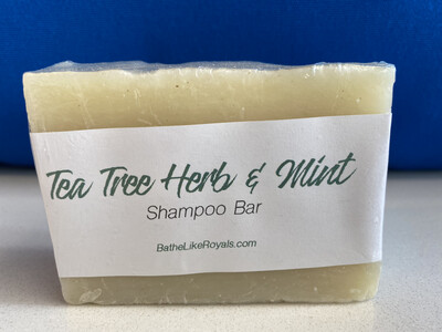 Tea Tree Herb and Mint Shampoo Bar - 5oz - VEGAN - ALL NATURAL