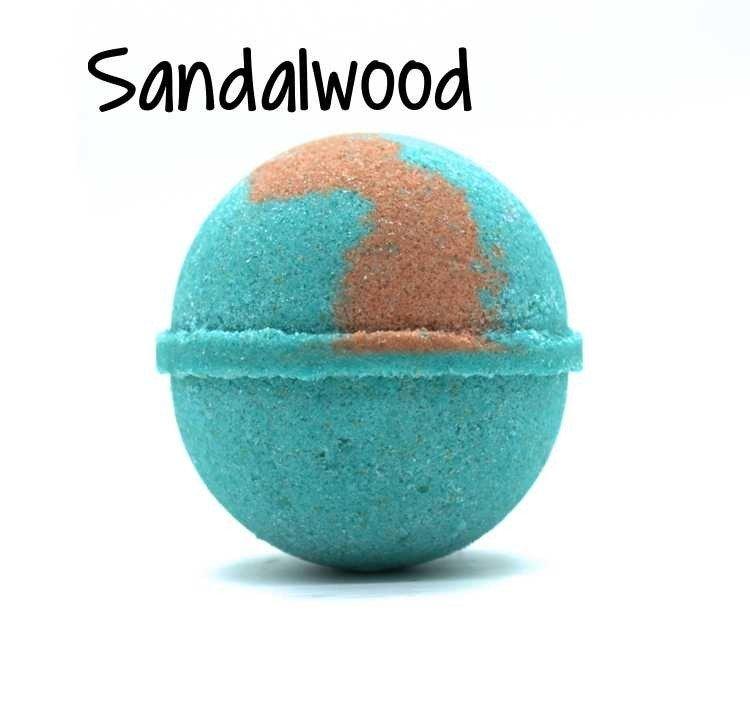 Sandalwood Goat Milk Bath Bomb - 5oz WGMS-SBB