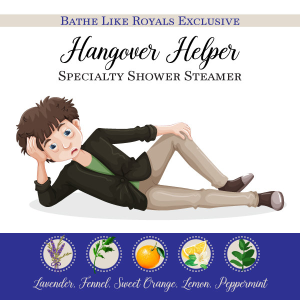 BLR Specialty Shower Steamer - Hangover Helper - Set of 2 SS-Hangover