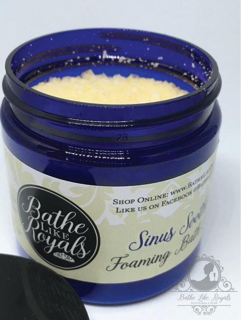 Sinus Soother Foaming Bath Salts - 4oz NSW-SSFBS