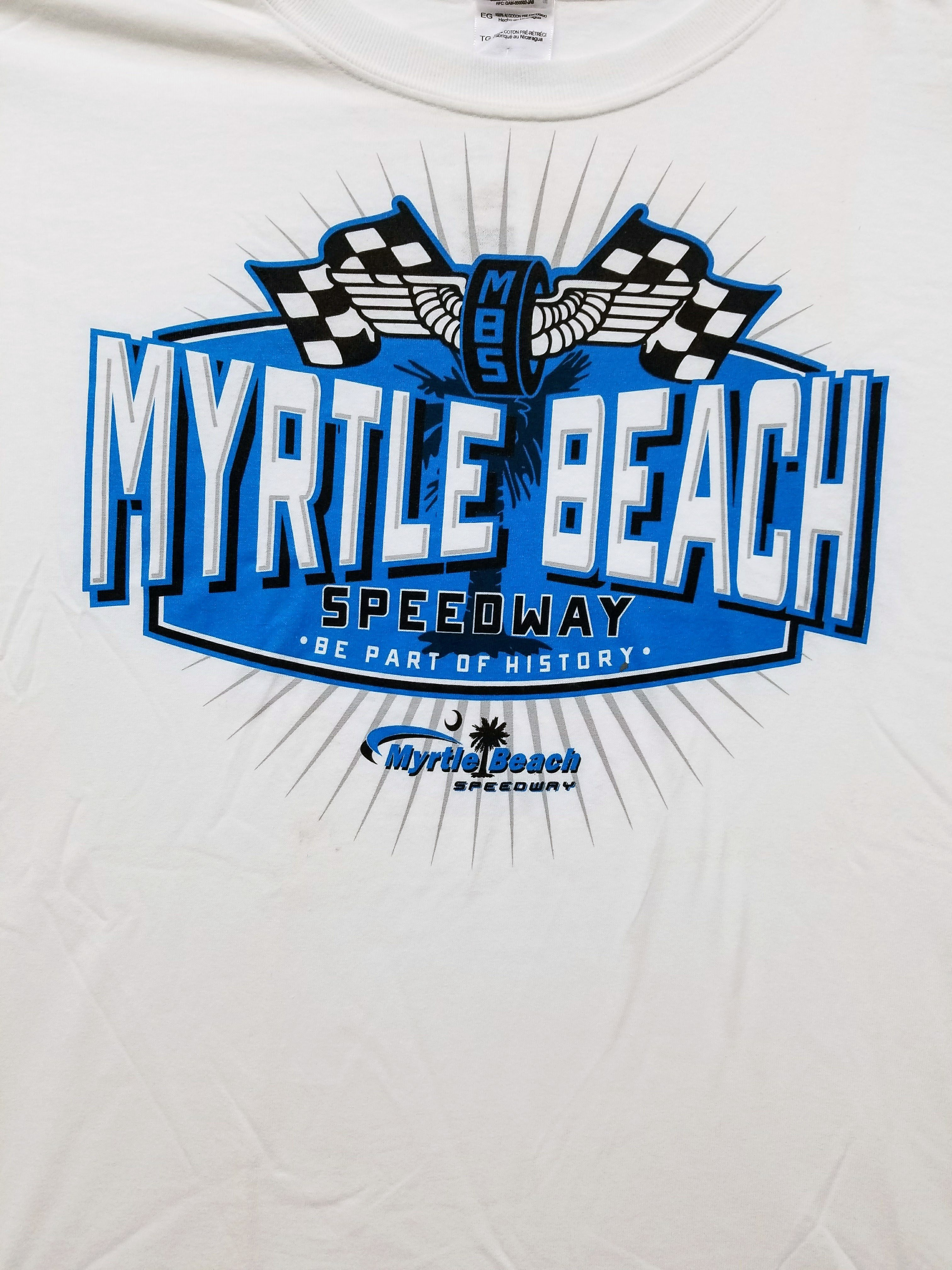 Myrtle Beach Speedway Adult 'Race' Tee (FRONT)