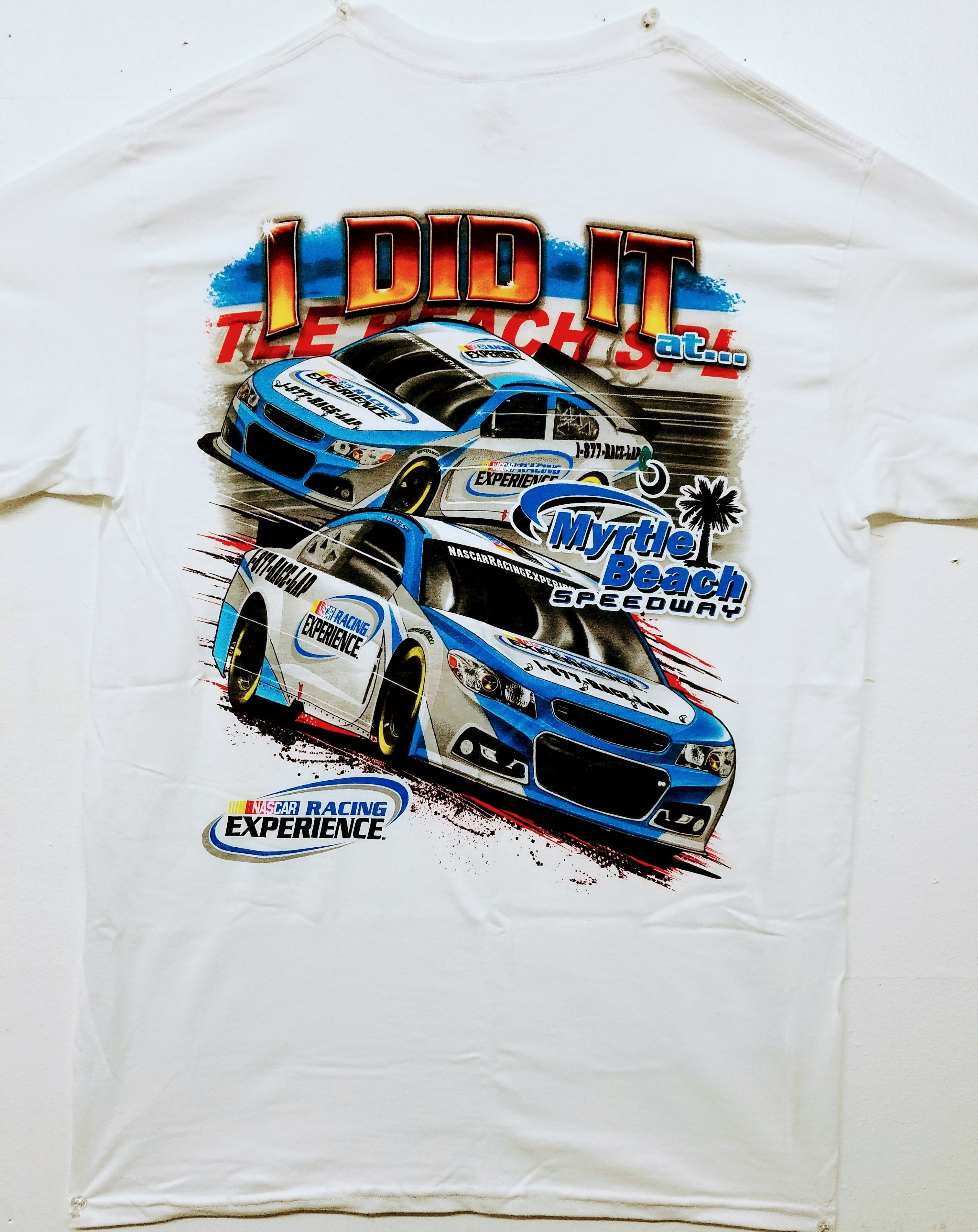 Myrtle Beach Speedway 'I Did It' Adult Tee (BACK)