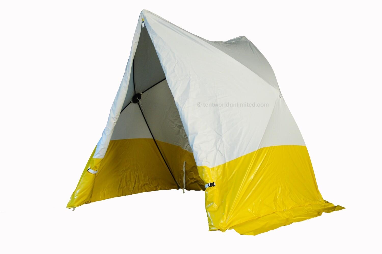 Tente de chantier triangulaire
