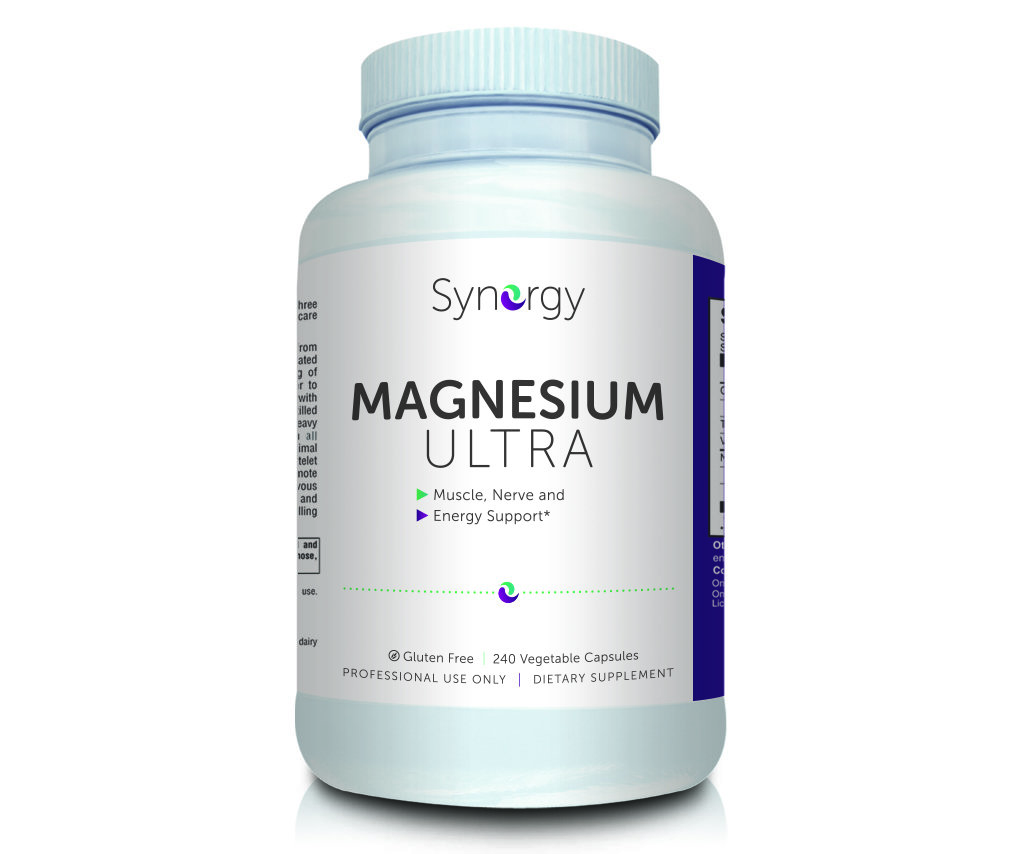 Synergy - Magnesium Ultra - 240 Vegetable Capsules - Muscle, Nerve and Energy Support 00169
