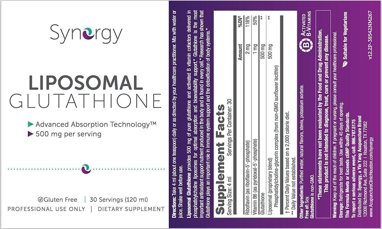 Synergy - Liposomal Glutathione - 120 ml / 30 Servings - Antioxidant