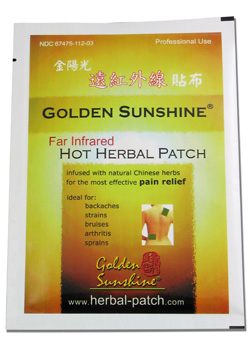 Far Infrared Hot Herbal Patch by Golden Sunshine 00060