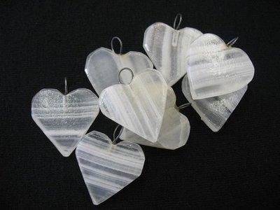 Banded Onyx Heart Pendant, Onyx Pendant