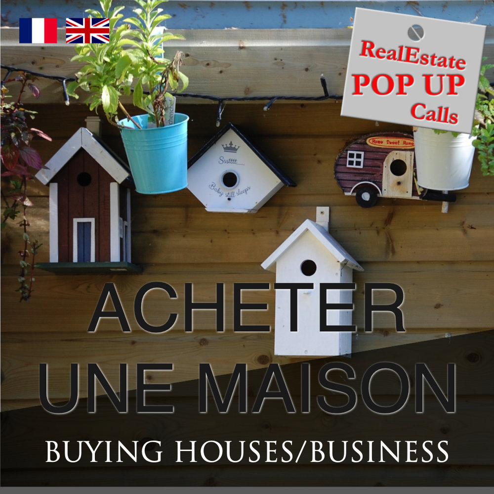 RealEstate POP UP Call - ACHETER UNE MAISON - BUYING HOUSES - English & Français