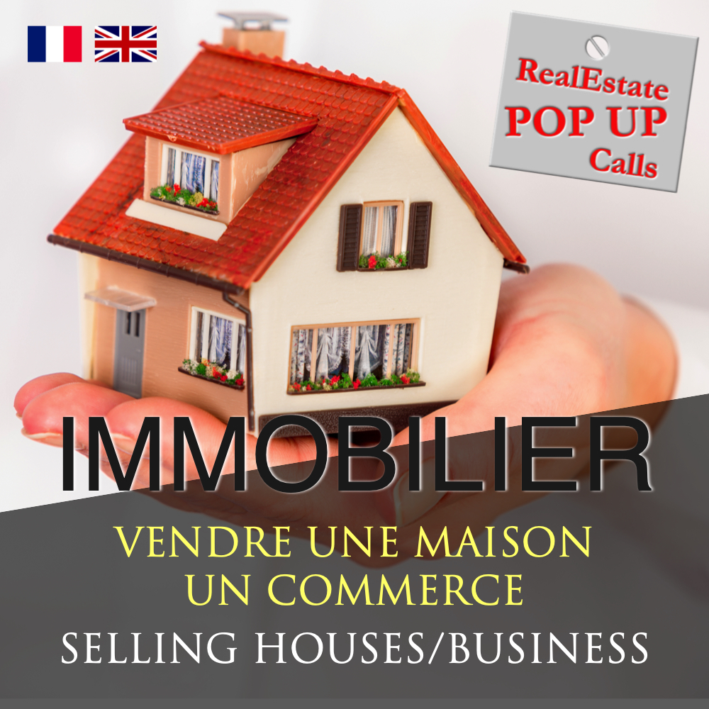 RealEstate POP UP Call - VENDRE UNE MAISON - SELLING HOUSES - English & Français 00026