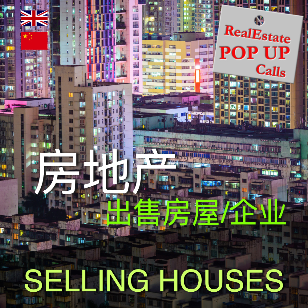 RealEstate POP UP Call - 出售房屋/企业 - SELLING HOUSES - English & 中文 00036