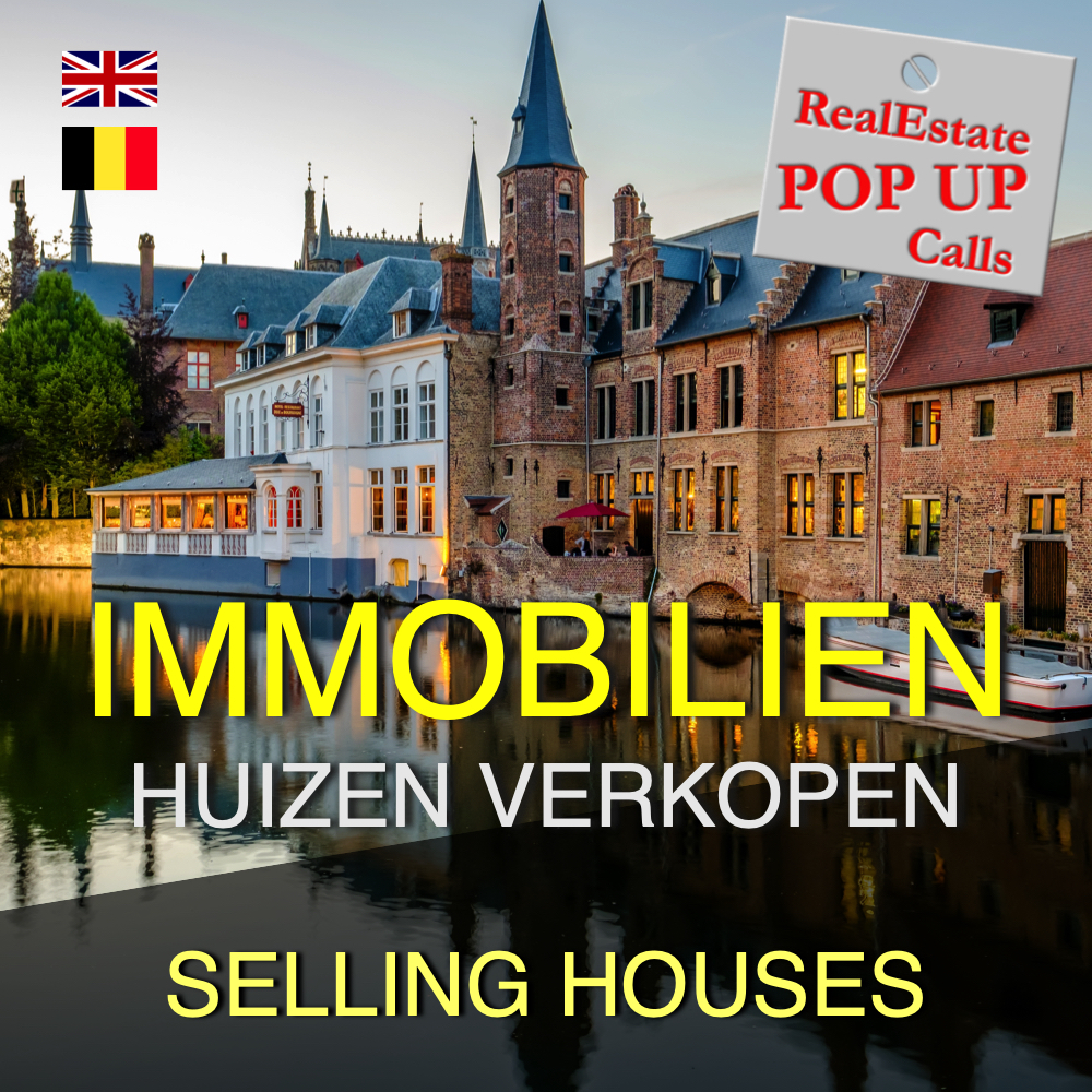 RealEstate POP UP Call - HUIZEN VERKOPEN - SELLING HOUSES - English & Nederlands 00038