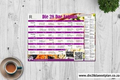 28 Dae Dieet Yskaskaart A3