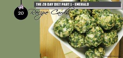 Recipe Cards Part 1 - Emerald Pack (PDF)
