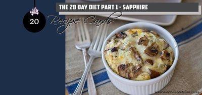Recipe Cards Part 1 - Sapphire Pack (PDF)