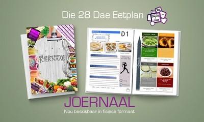 Die 28 Dae Eetplan Joernaal (FISIESE A5 BOEK)