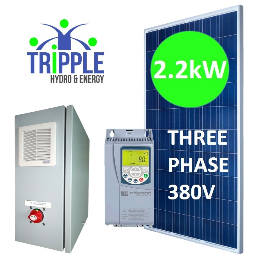 2.2kW DC-AC380V Three Phase Solar Pump Conversion Combo (DIY)