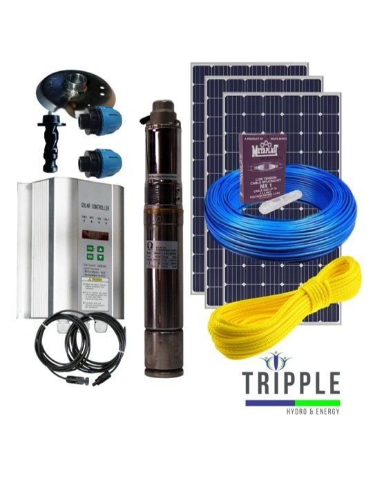 Omega-3 Solar Pump Combo-2 (300 Watt) P-OME-3MHR-36V/300W-SOLAR-COMBO