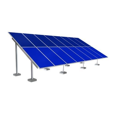 Solar Ground Mounting Frame - 16 Panel SF-GR16-DUEL-POST