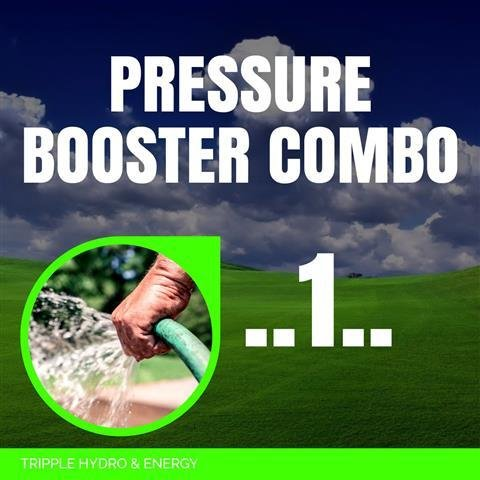 Booster Pump Combo 1 - Garden Hose & Light Irrigation