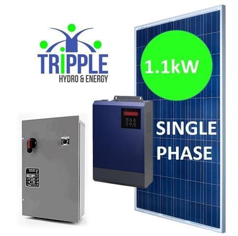 1,1kW DC-AC220V Single Phase Solar Pump Conversion Combo (DIY)