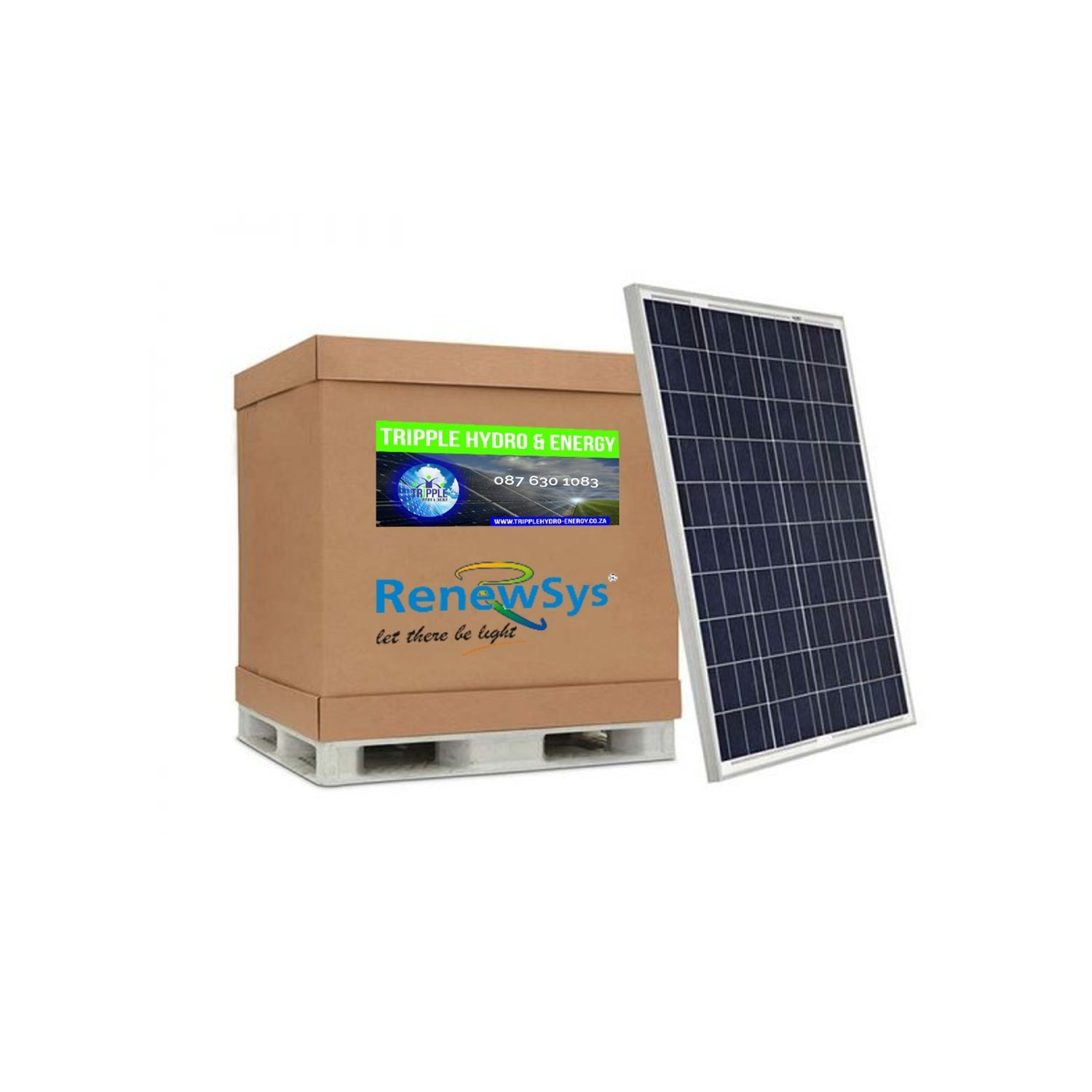 Renewsys 100 Watt Solar Panel (Pallet of 28) (R7.64/Watt excl Vat)