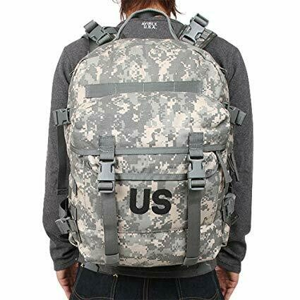 US MILITARY ISSUE MOLLE II ACU 3 DAY ASSAULT PACK, LIKE NEW