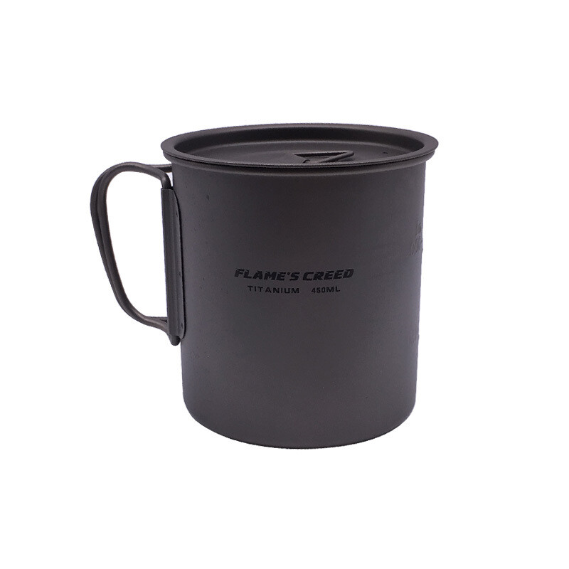 Flames Creed Titanium Mug - 450 ML