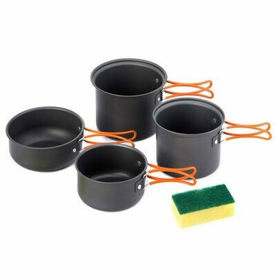 Naturehike Four-Piece Hiking Camping Cooking Set