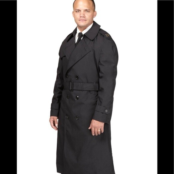 US Military Marine Men's All Weather Trench Coat with Removable Liner