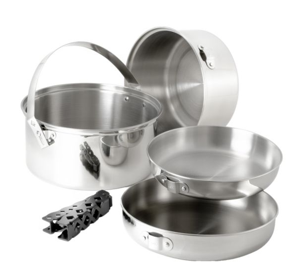 GSI Glacier Stainless Cook Set - Large