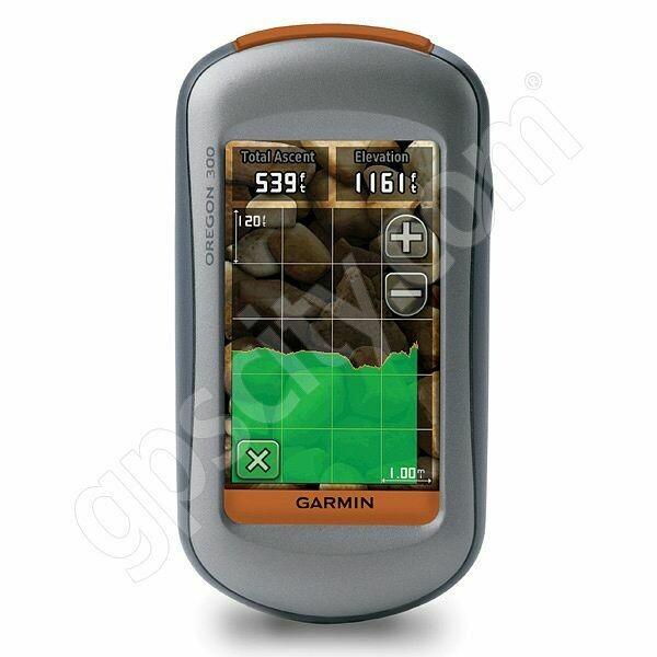Garmin Oregon 300 handheld touchscreen GPS receiver