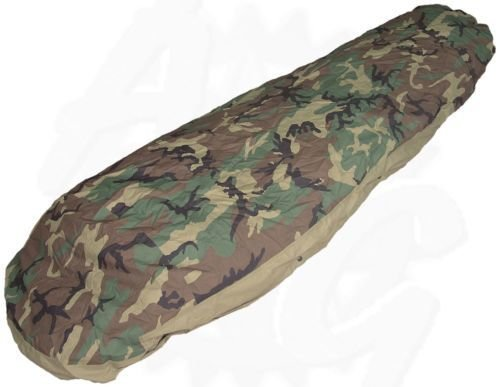 US Military Gortex Woodland Camo Bivy Sleeping Bag Cover - USED, Good to Very Good condition