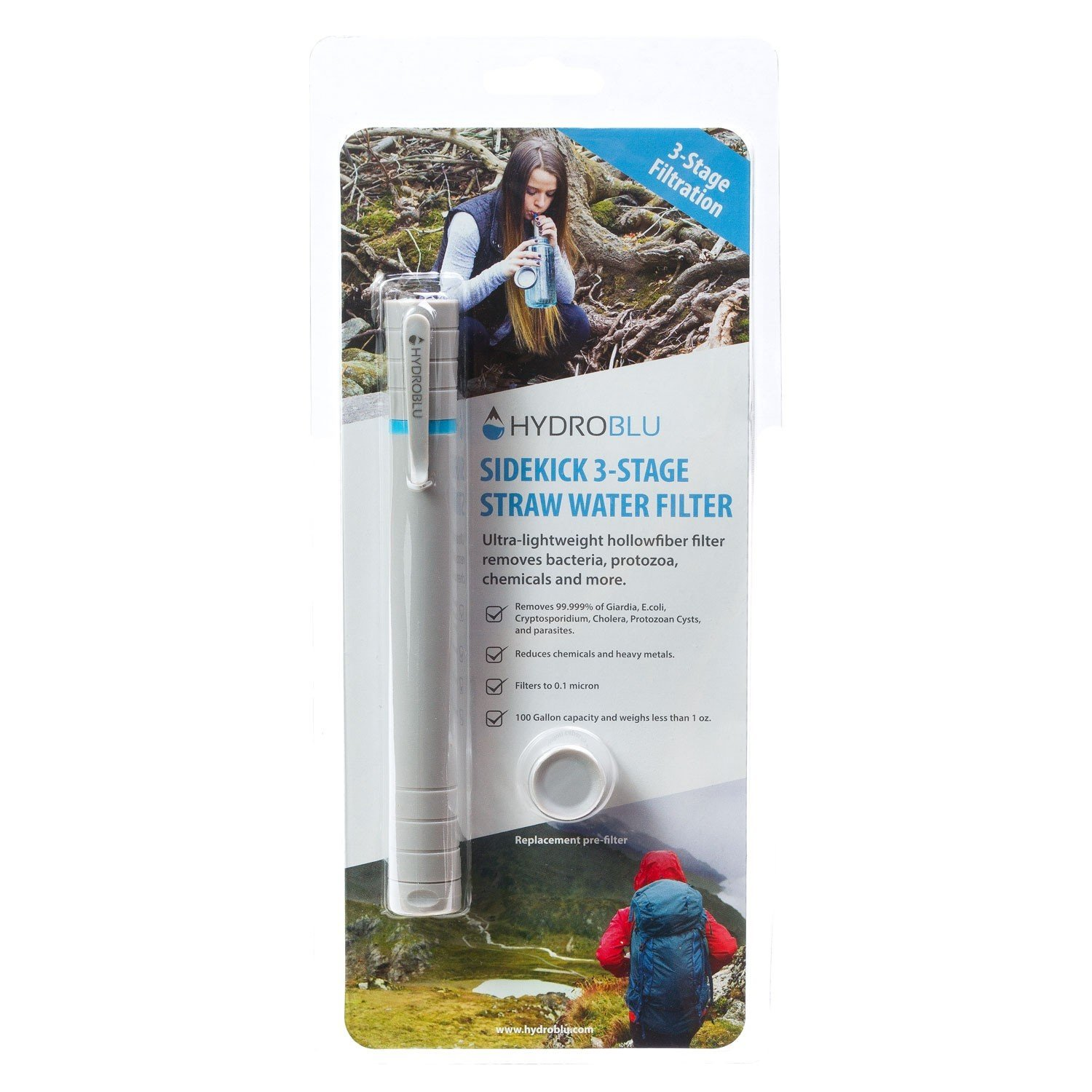 Hydroblu Life Straw Emergency Water Filter