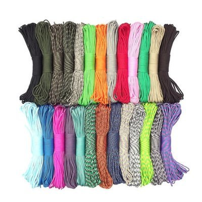 CKO Paracord 550 Mil Spec, assorted colors, 100 ft lengths