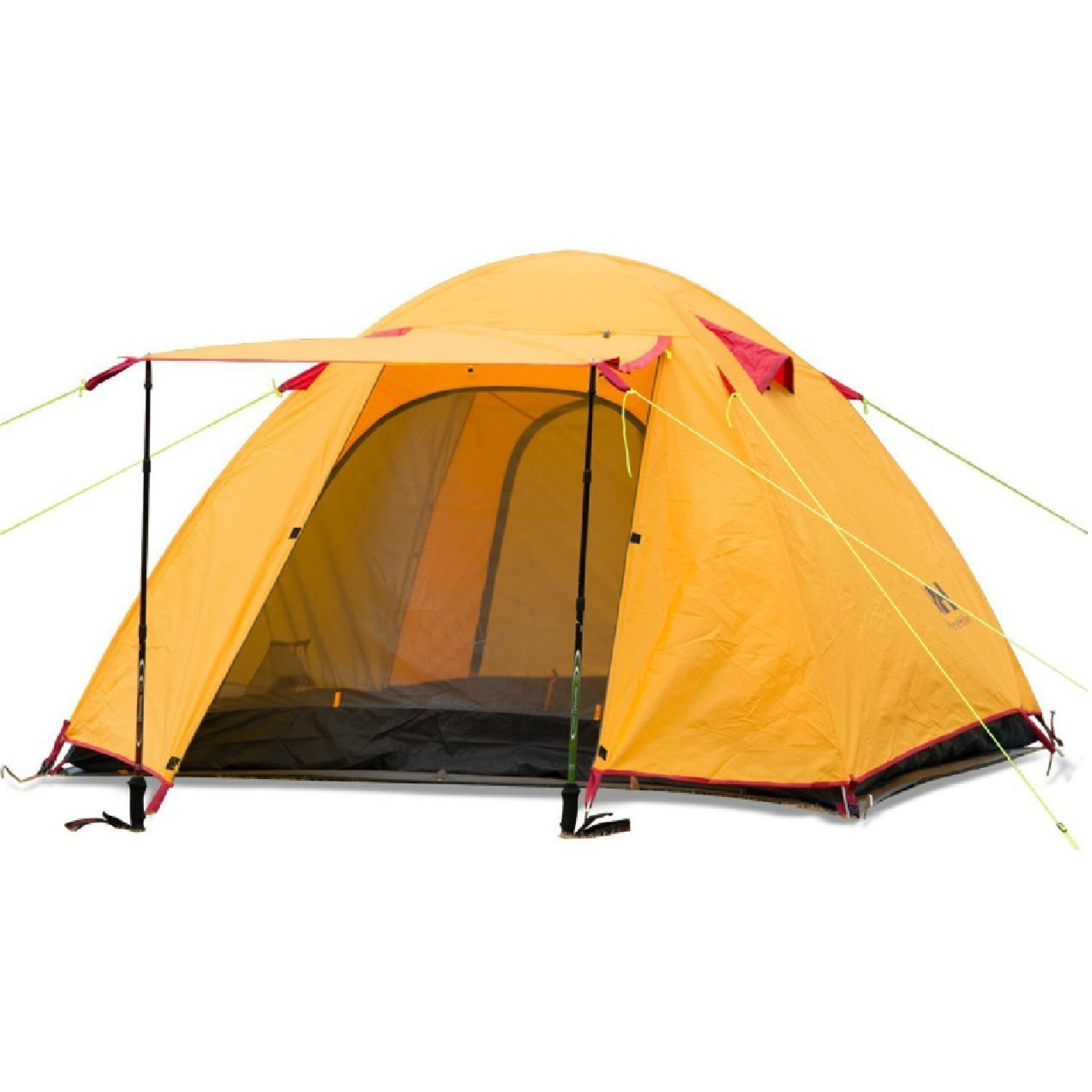 Naturehike P Series Two Person Backpacking Camping Tent, Three Season