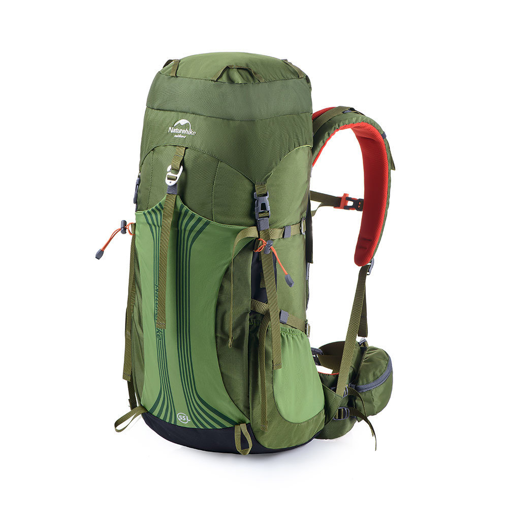 Naturehike 55L + 5L Backpack  Adjustable One Size Torso