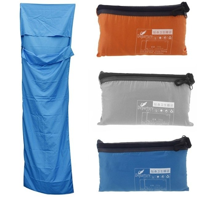 Departure 70 x 210cm Rectangular Sleeping Bag / Liner - Blue