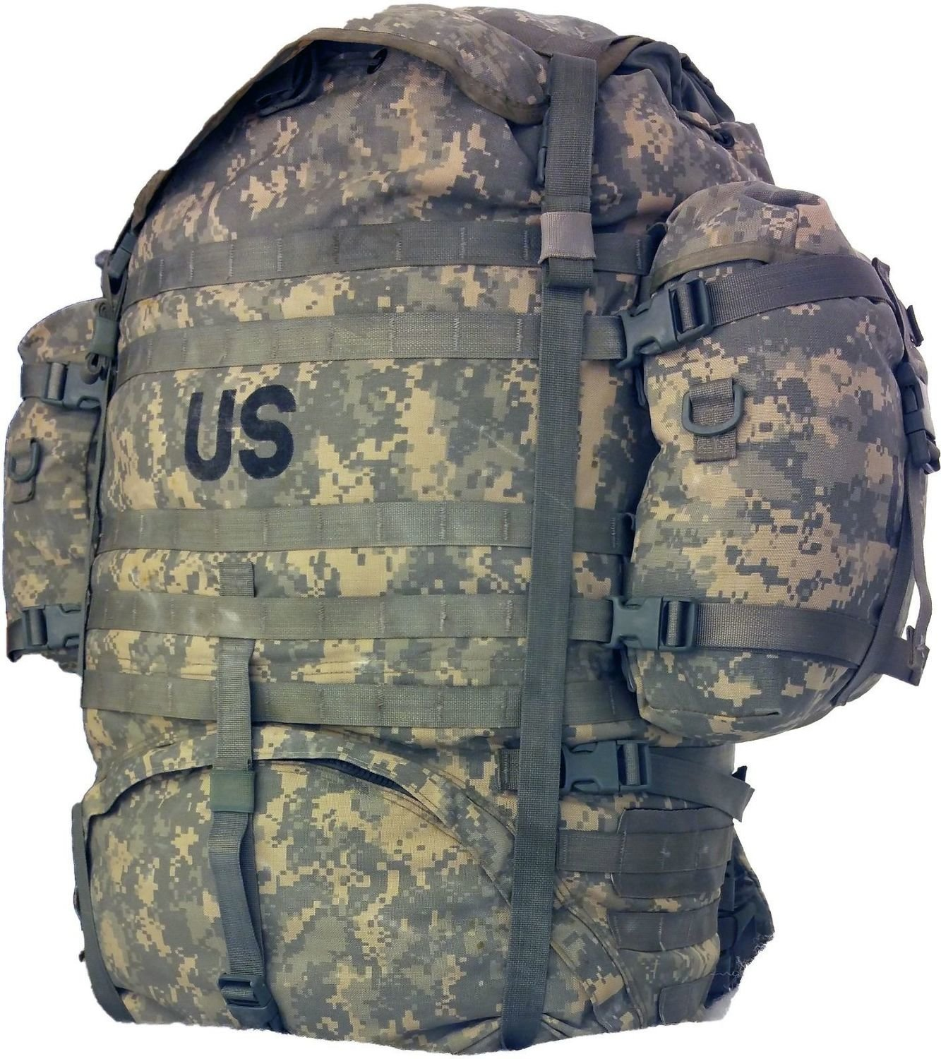 US Military Army Rucksack Backpack MOLLE II Large Field Pack - Used, Good Condition